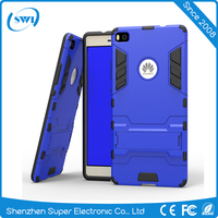 Hybrid Combo Armor 2 Layer Kickstand Cell Phone Case Cover for Huawei P8 Accessory
