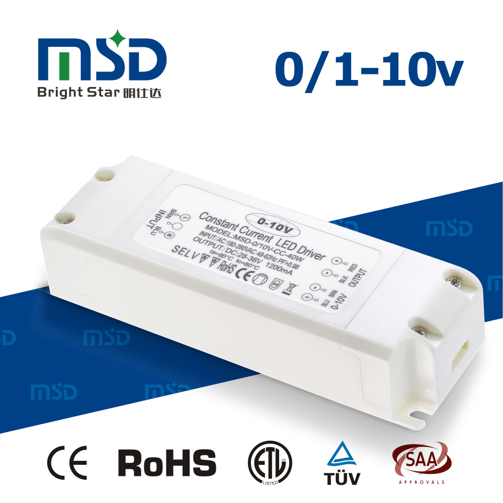 350mA 40W 42W 45W 0-10V Dimmable Constant Current Waterproof LED Power Supply / Dimming LED Driver