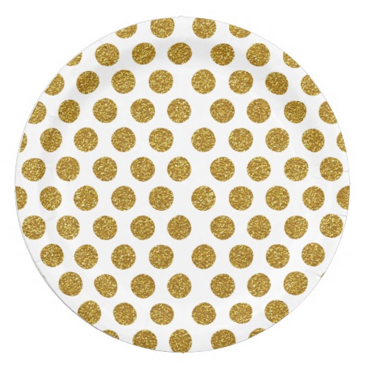 Biodegradable custom printed paper <strong>plate</strong> gold foil rose gold disposable paper <strong>plate</strong> with little moq