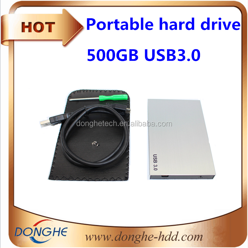 customize logo portable hard drive 500gb USB3.0 hdd 2.5 with retail box