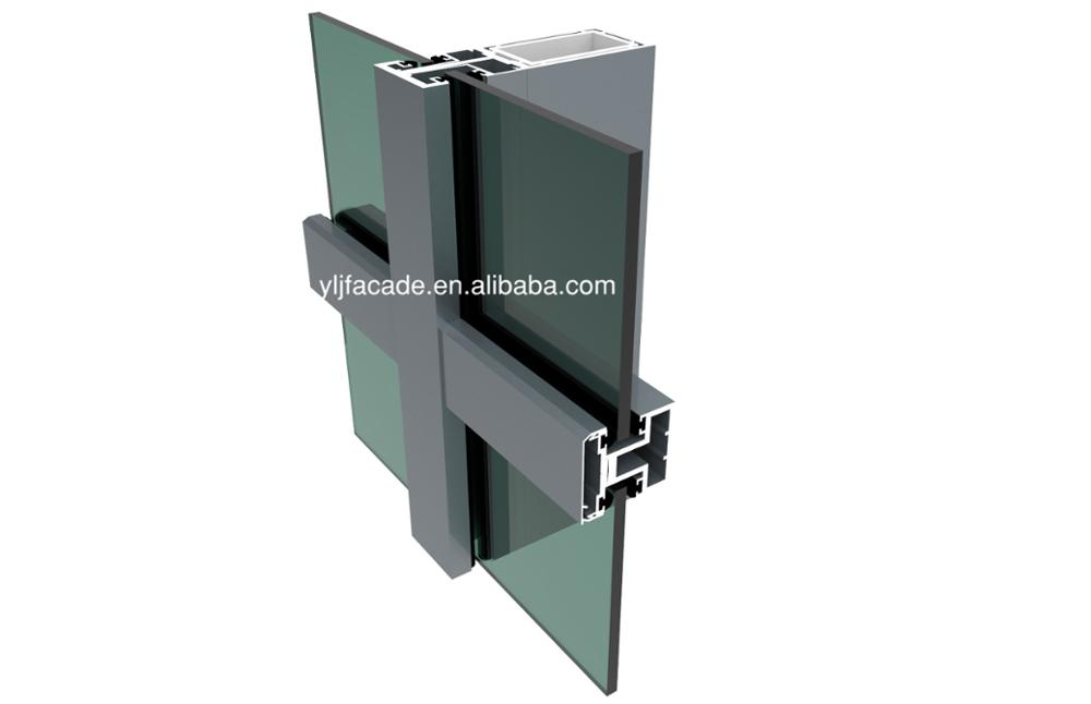 Yong Li Jian Aluminum soundproof curtain wall for building facade