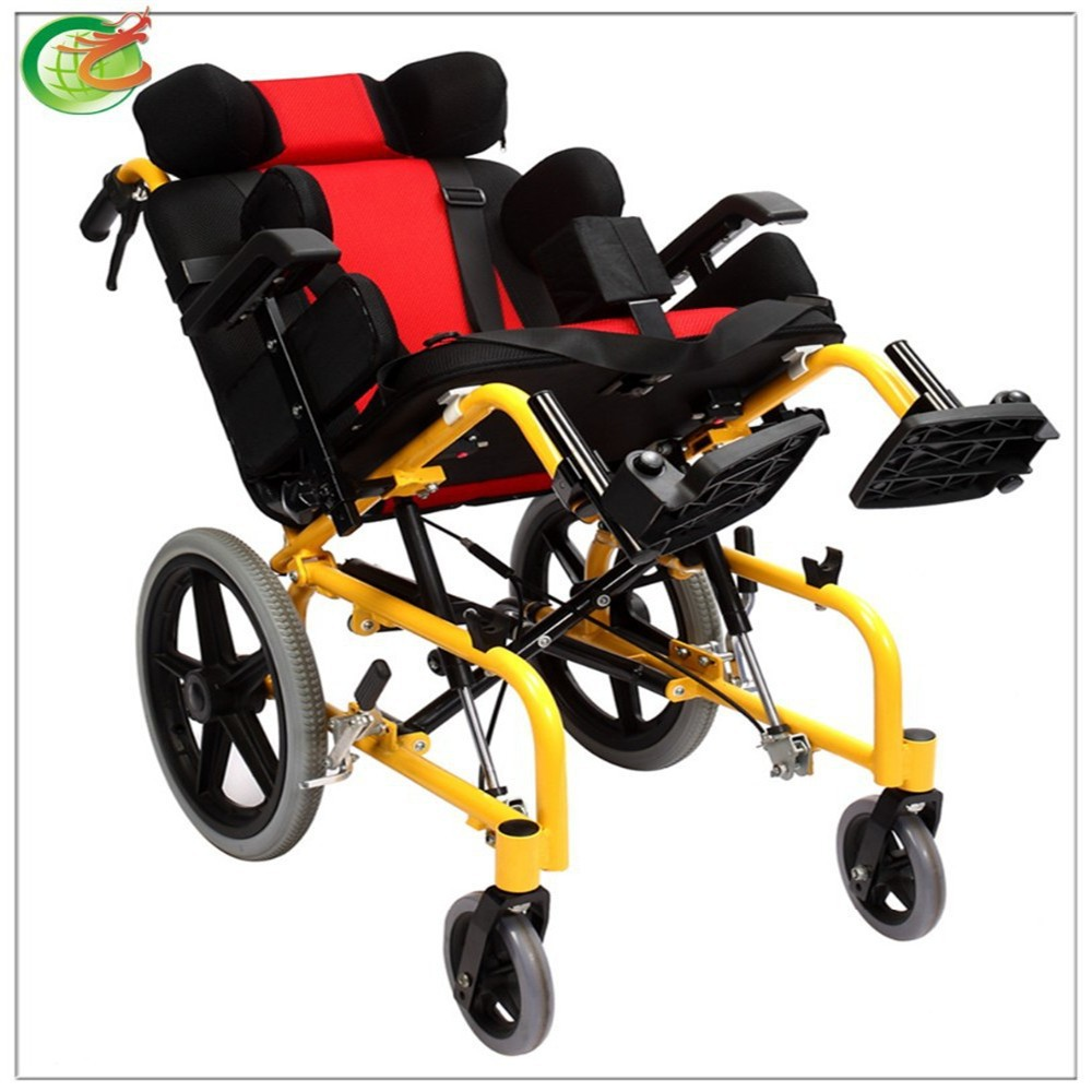 Reclining/Lightweight Safe Manual Cerebral Palsy/Disabled handicapped Wheelchair for disabled children
