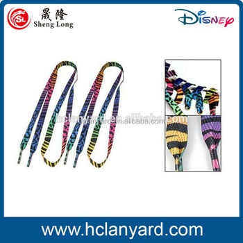 hot sale custom sublimation imprint logo shoelace