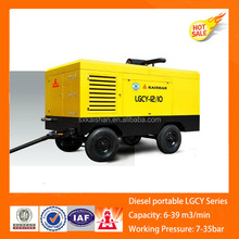 Diesel rotary portable screw air compressor from China