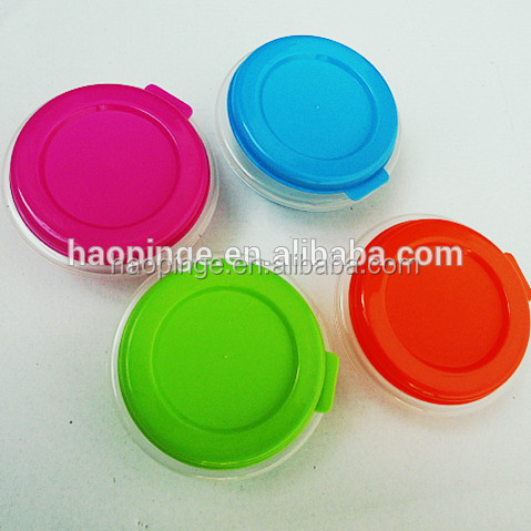 Round casserole lunch box plastic
