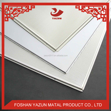 OEM Perforated Suspended Polyester Aluminum Profile Lay in Ceiling Panel Tiles 600x600
