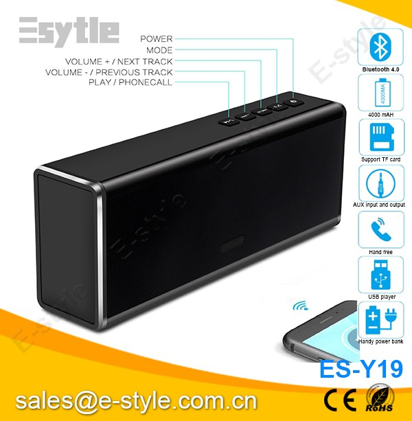 China factory new Gift premium aluminum Bluetooth speaker, dj bass speaker