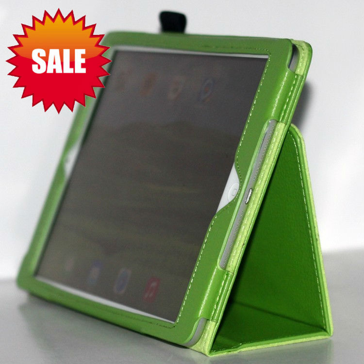 Lichee Pattern Leather Smart Cover case,for ipad air folio case