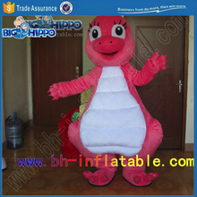 pink dinosaur high quality custom mascot costume