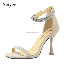 High quality custom globlet ankle strap high heel women sandal shoes