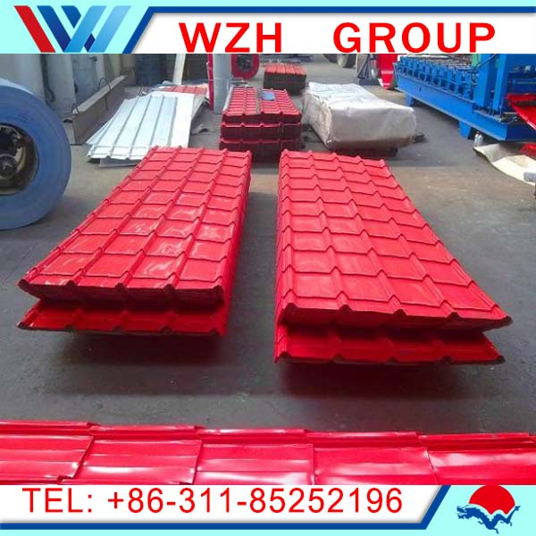 High quality color metal steel roofing sheet,color glazed metal roof tile,color galvanized corrugated roofing