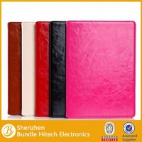 Genuine leather for apple ipad air 2 case, tablet cover flip leather case for ipad air 2, for apple ipad air 2 leahter case