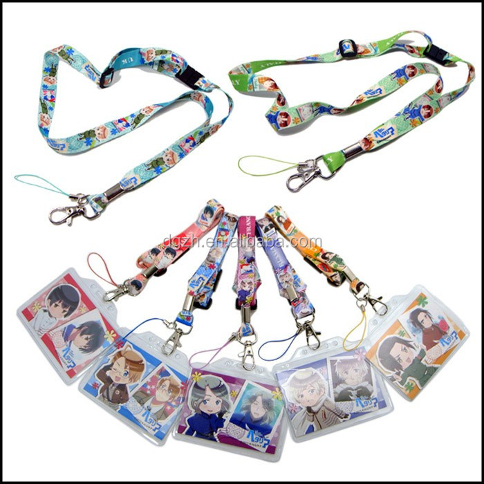 Pvc card holder cute logo children Neck straps