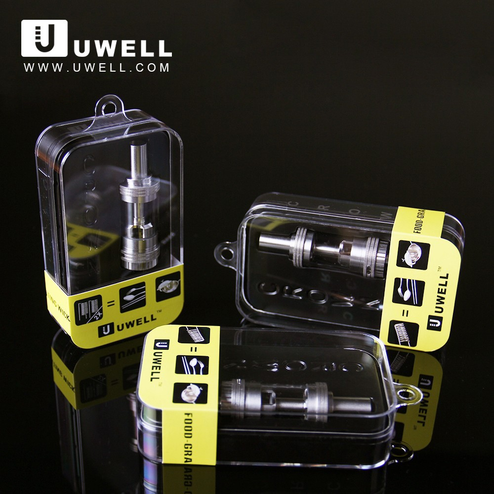 2015 UWELL newest food-grade stainless steel heating coil arctic sub ohm tank clearomizer kit electronics