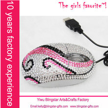 Wholesale fashion wired rhinestone mouse