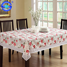 Accept Custom Order plastic coral flannel backed tablecloths plastic fitted tablecloths