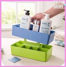 multi-purpose plastic storage box with carry handle