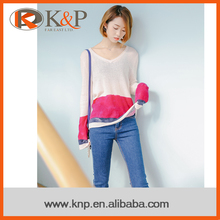 China OEM or ODM Supply Computer Knitting 100% Angora Sweater For Women