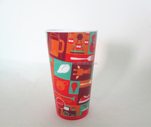 in mold label promotion plastic cups
