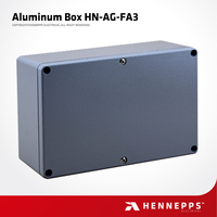 ROHS Metal Aluminum Electric Box Weatherproof IP66 Custom Electronic Enclosures
