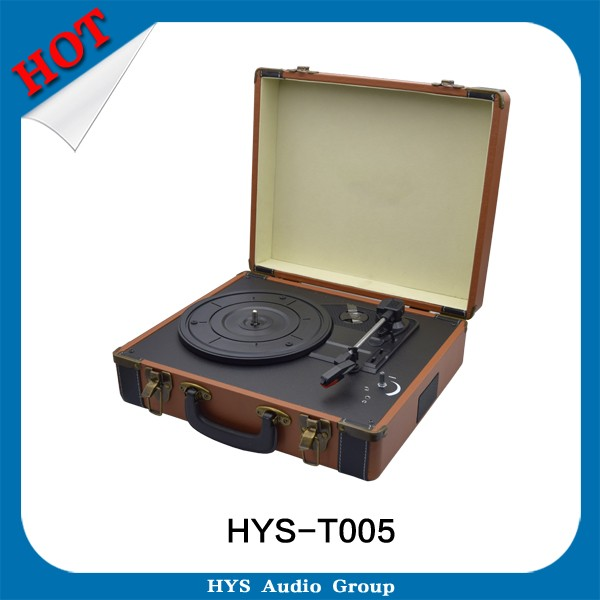 Suitcase Vinyl Turntable Record Player With USB SD Bluetooth