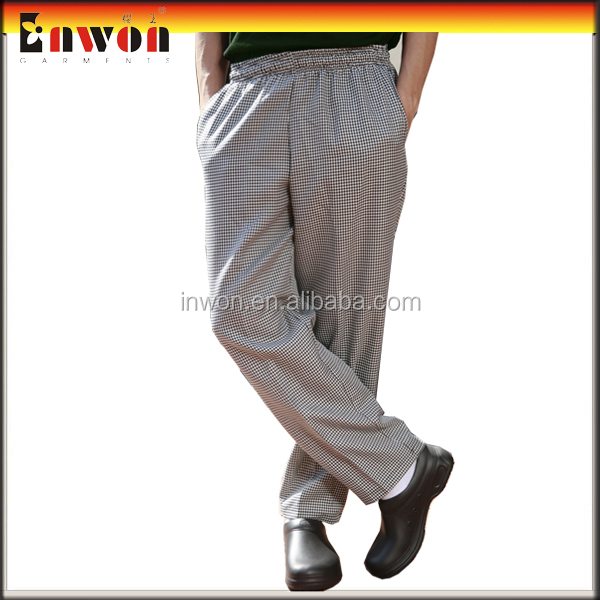 Professional restaurant cook pants workwear print chef pants