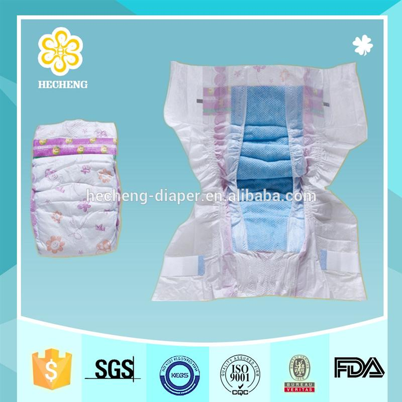 Disposable wholesale baby nappies in bales