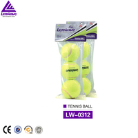 Hot-sale wholesale Professional-training 3pcs packing Natural-rubber tennis balls