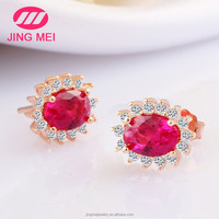 Fashion jewelry rose gold wholesale 925 silver stud earrings for women