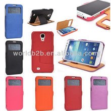 Hot Selling Flip Stand Microfiber Leather Case Cover for Samsung Galaxy S4 Mini i9190