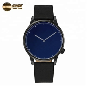 Cheap Price Custom Logo Leather Belt Waterproof Quartz Wrist Watch For Man