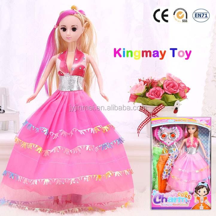11.5 inch OEM Dress-up Plastic Doll Barbiee Fashion Doll