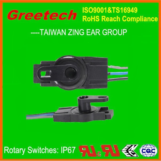 zing ear switch rotary, 4 position rotary switch 0.1A 12VDC