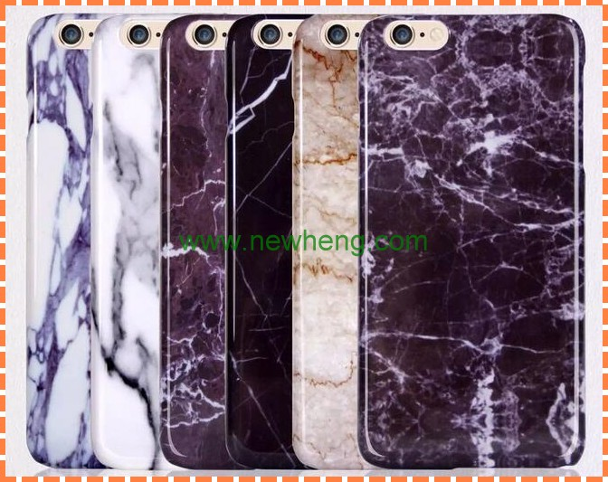 Marbling PC case for iphone6, fashion marble back cover for iphone 6