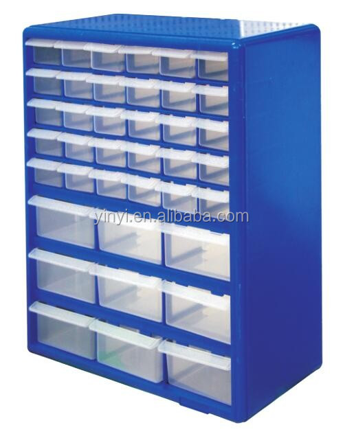 39 PCS Plastic Storage Cabinet with Visible Bins (502739)