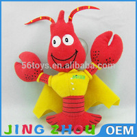 sand animal stuffed toys,stuffed shrimp,plush crawfish toy