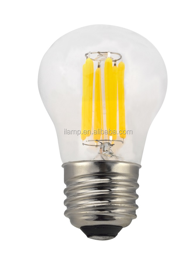 ul led filament bulb p45/g45 mini bulb 2w 4w clear cover led lights filament e12 e1 b15 e26 e27 base type 110lm/w high efficacy