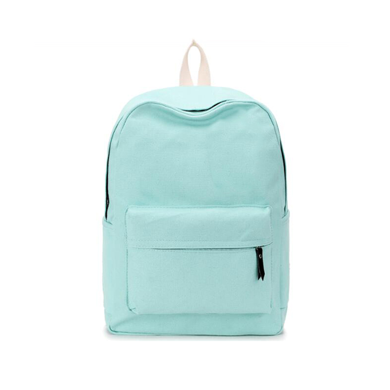 Hot Selling Canvas Solid School Bag Backpack For Women Young Girl Backpacks For Adolescent Girl Female Women Backpacks