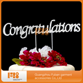 cakes decorations China wholesale-Congratulations handmade wedding cake toppers-Congratulations cake topper