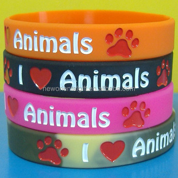 Love Animal Silicone Wristbands/Swirl Color Silicone Wristbands