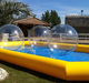 Adult large inflatable swimming pool made of 0.9mm pvc tarpaulin for water balls, roller balls and other water toys