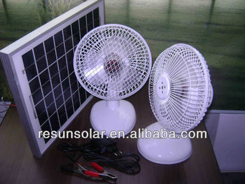 popular 24V 12V DC/rechargeable table fan/solar dc fan /ACDC