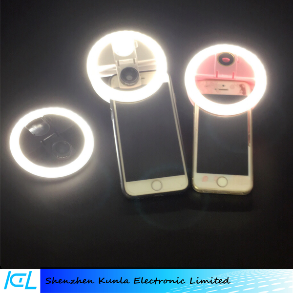 LED Ring Selfie Light for Beaty photography with Wide-angle macro