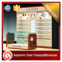 Nice looking modern make up store display cosmetic display cabinet