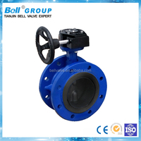 Ductile Iron DN800 Flanged Butterfly Valves Gear Operator