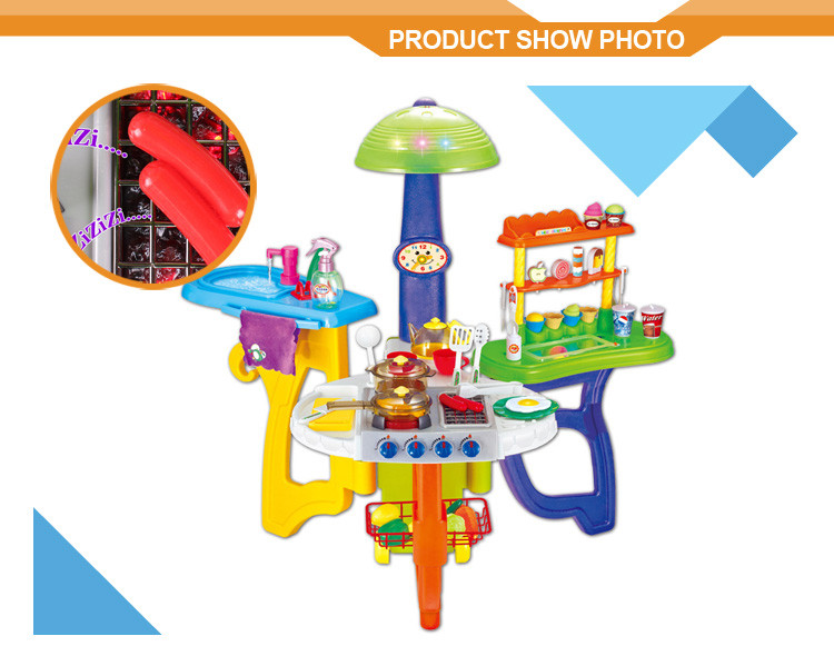 Childs toy kitchen supermarket play set