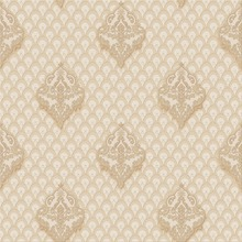 Gold foil wallpaper with a pattern of bamboo