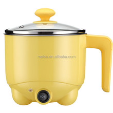 110V/240V 1.0L SUS304 2016 fashion polish finished pot food grade PP plastic electric steamboat cooker made in China