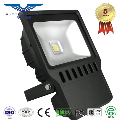 IP65 and 5 year warranty, bridgelux 45mil clip 100w outdoor led flood light