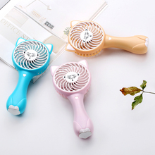 2018 New cartoon portable table summer air cooling quiet rechargeable desk handheld fan
